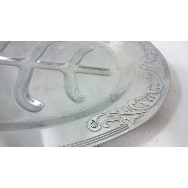 Art Deco Oval Chrome Meat Platter - Image 6 of 6