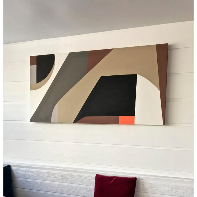 Tony Marine Mid-Century Inspired Painting For Sale - Image 4 of 6