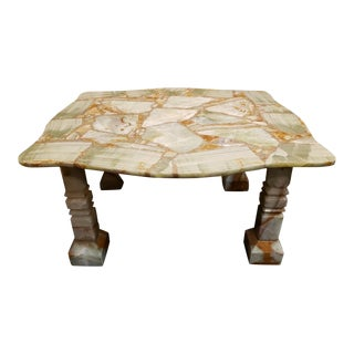 Mid 20th Century Mexican Onyx Coffee Table For Sale