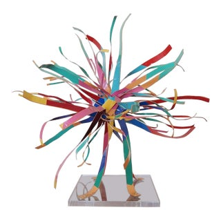 Abstract Metal Ribbon Sculpture by Dorothy Gillespie For Sale