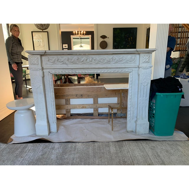 1900s Marble Fireplace Mantel For Sale - Image 9 of 12