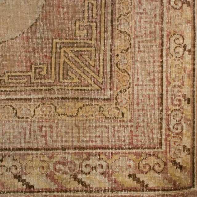 """Asian 19th Century Central Asian Samarghand Carpet - 4'10"""" x 10'4"""" For Sale - Image 3 of 4"""