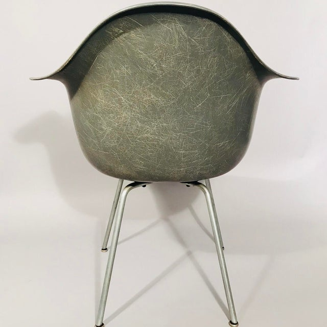 Gray Eames Rope Edge Armchair For Sale - Image 8 of 12