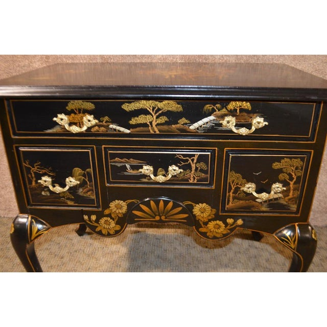 Vintage Hand Painted Chinoiserie Lowboy - Image 4 of 11
