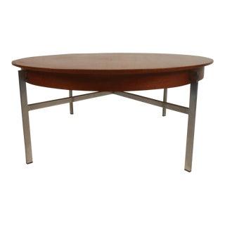 Mid-Century Modern Teak and Steel Coffee Table For Sale