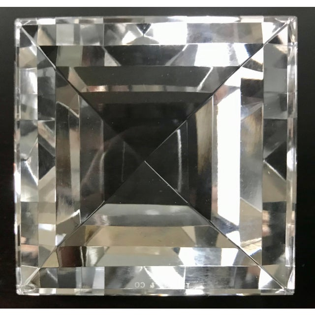 Tiffany & Co Crystal Pyramid Paperweight For Sale In Saint Louis - Image 6 of 9