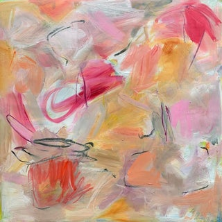 """Valentine"" by Trixie Pitts Abstract Expressionist Oil Painting For Sale"