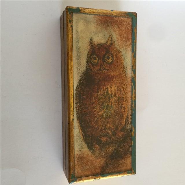 Mid-Century Distressed Owl Box - Image 2 of 9