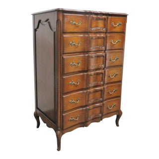 Louis XV Style Faux Painted 6 Drawer Chest For Sale