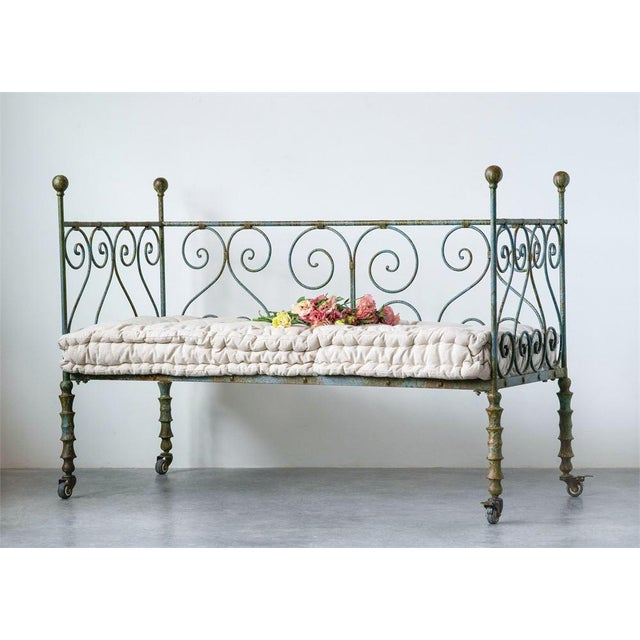 Antique Style Metal Day Bed For Sale - Image 4 of 5