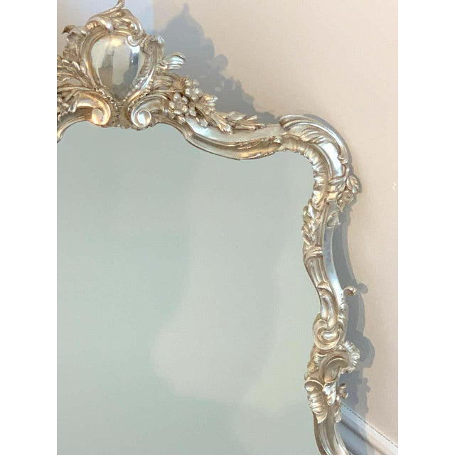 French French Silver Plated Dressing Mirror For Sale - Image 3 of 12