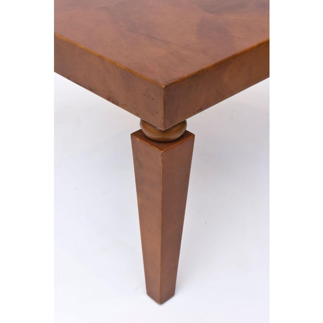 "American Modern ""Goatskin"" Occasional Table, Karl Springer For Sale - Image 10 of 10"