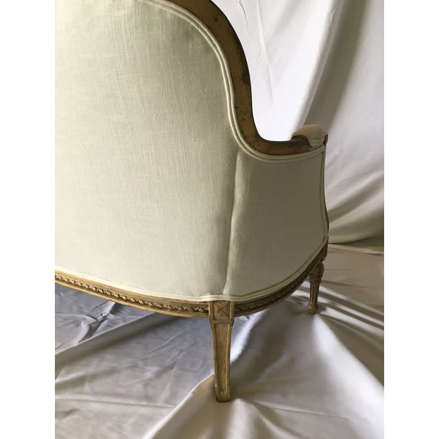 Vintage Gilt French Settee For Sale - Image 9 of 11