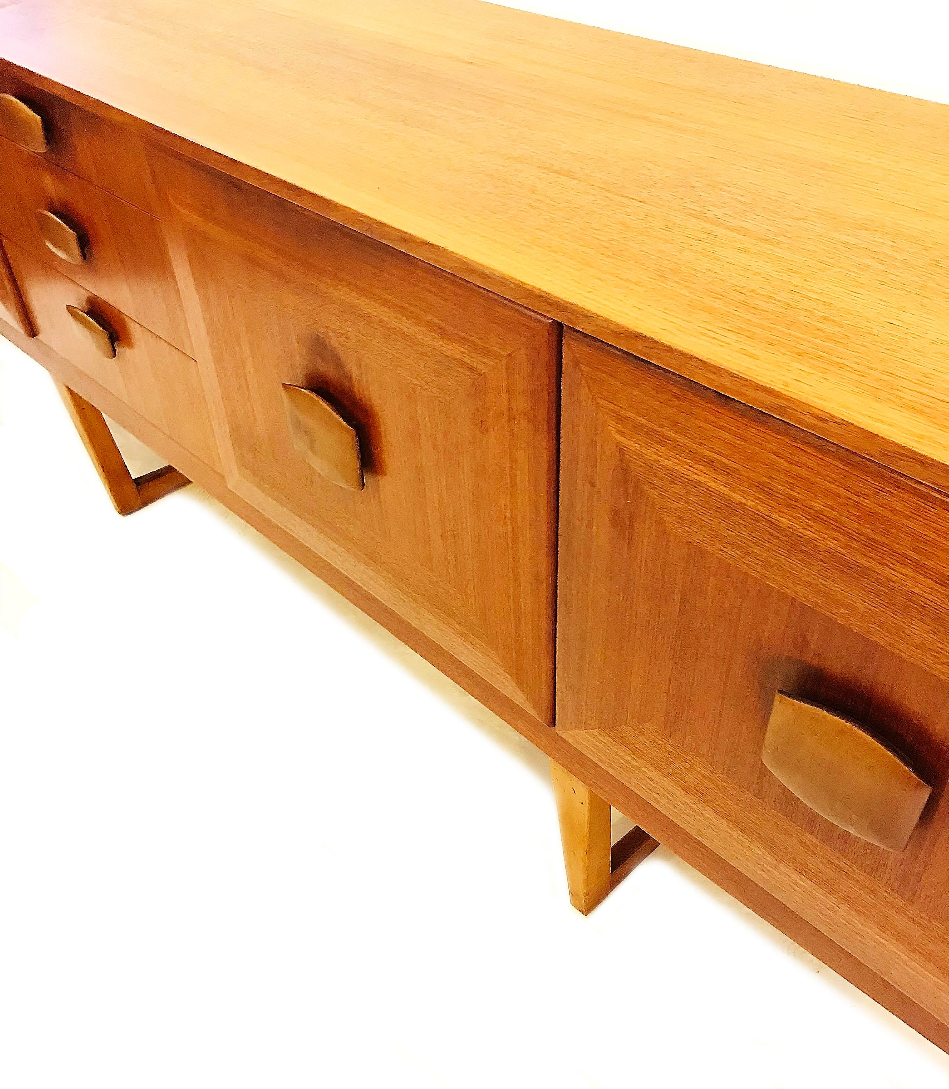 Danish Modern Vintage Stonehill Furniture English Modern Teak Credenza For  Sale   Image 3 Of 4