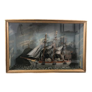 American Diorama Ship Model For Sale
