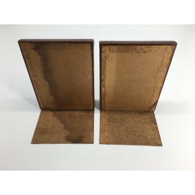 Mid 20th Century Vintage Mid 20th Century Faux Leather Bookends - a Pair For Sale - Image 5 of 8