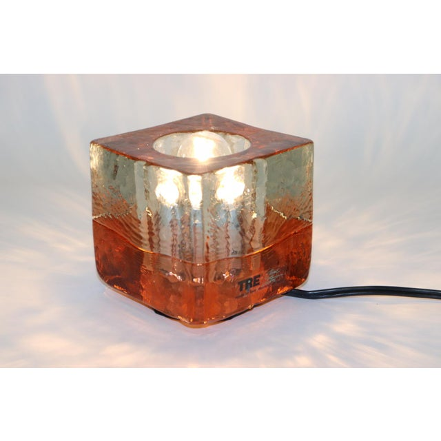 Orange Mid-Century Modern Murano Glass Table Lamp For Sale - Image 13 of 13