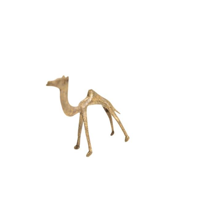 Medium Vintage African Bronze Camel For Sale