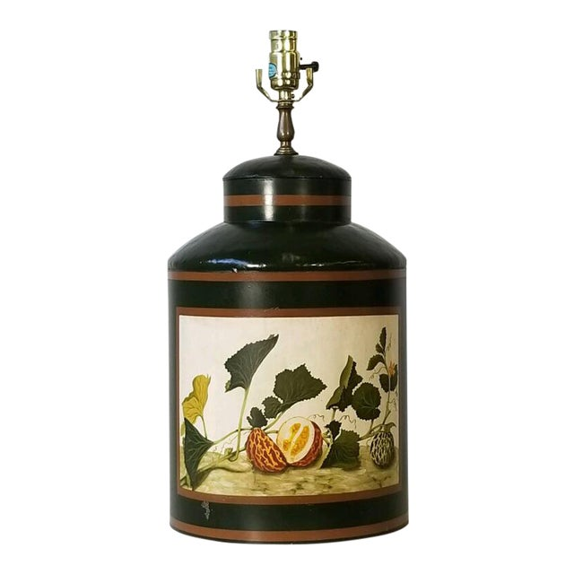 Painted American Tole Lamp by Jm Piers For Sale