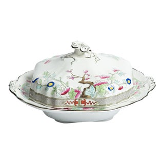 19th Century Burgess & Leigh Butter Dish For Sale