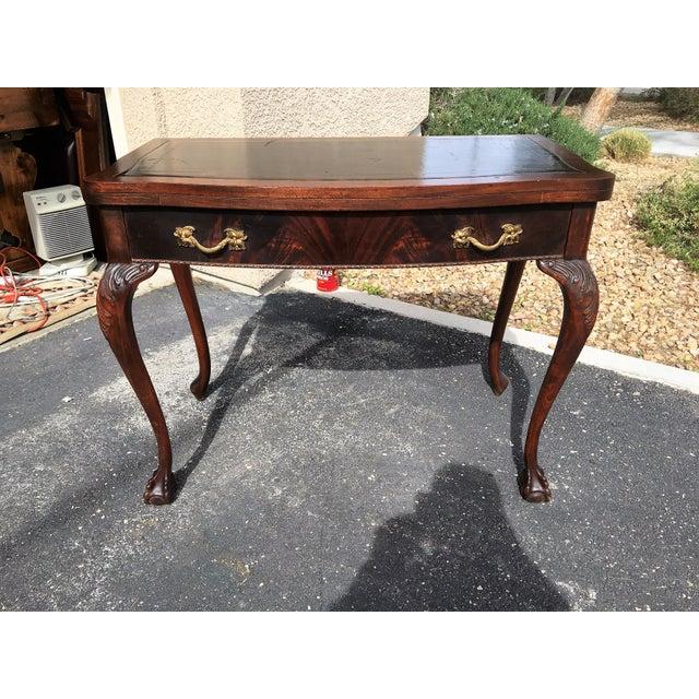 Mahogany & Leather Writing Desk - Image 3 of 9