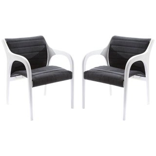 Pair of Elegant Occasional Chairs by Claudio Salocchi For Sale
