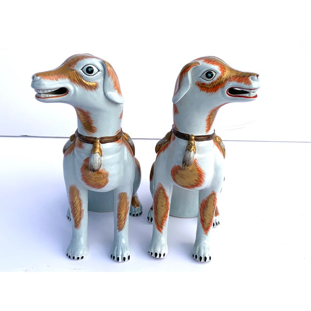 Chinoiserie Paul Hanson Italy, Chinoiserie Dogs - a Pair For Sale - Image 3 of 8