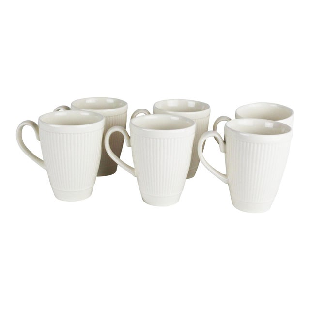 Late 20th Century Wedgwood Windsor Pattern Mugs - Set of 6 For Sale - Image 5 of 5