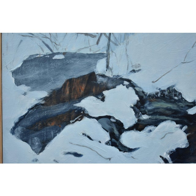 """Stephen Remick """"Crossing Destruction Brook"""" Contemporary Painting For Sale In Providence - Image 6 of 12"""
