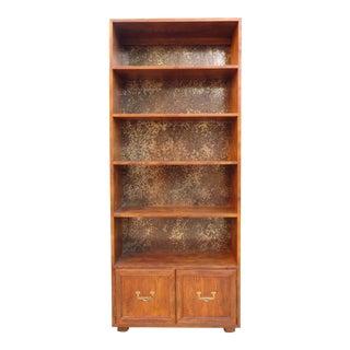Henredon Artefacts Campaign Style Bookcase For Sale