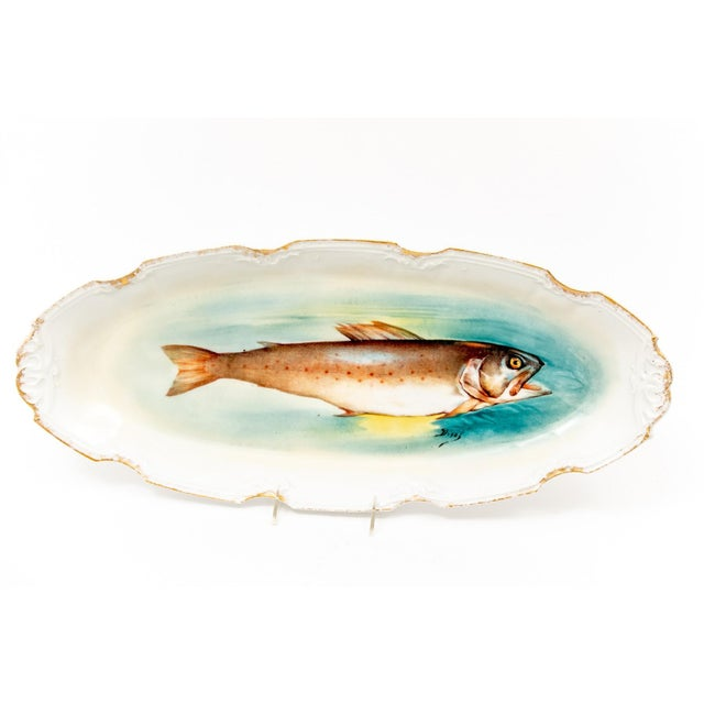 Limoges, France Late 18th Century Antique Limoges Fish Motif Serving Set - 13 Pieces For Sale - Image 4 of 11
