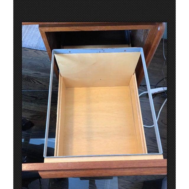 Danflex Systems Mid-Century Floating Top Teak Desk For Sale - Image 9 of 11