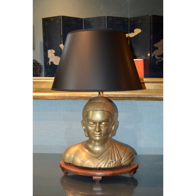 Vintage Solid Brass Buddha Lamps - Pair - Image 3 of 7