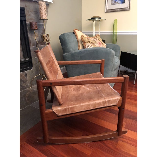 1950s 1950s Vintage Michael Arnoult Sling Chair Rocker For Sale - Image 5 of 12