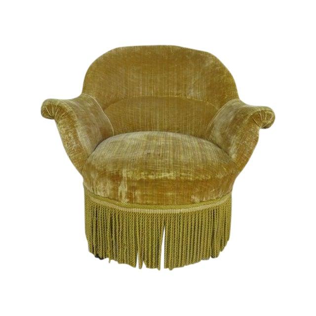 1940's light Gold Slipper Chair - Image 1 of 6