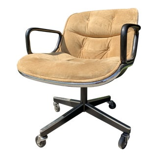 Executive Desk Chair by Charles Pollock For Sale
