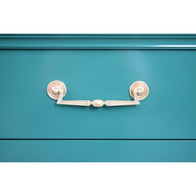 Paint 19th Century Modern Hunt Club Gloss Lacquer Green Dresser For Sale - Image 7 of 10