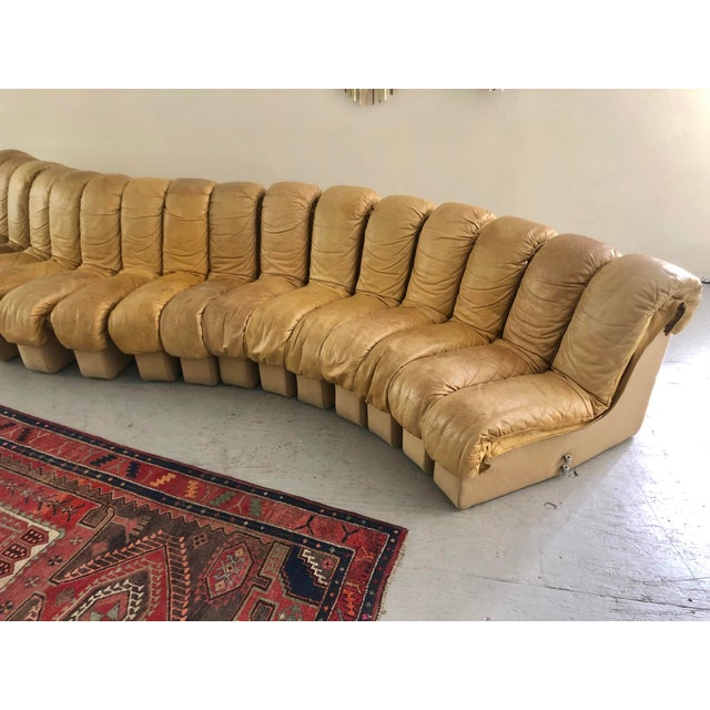 """De Sede DS600 """"Non-Stop"""" Sectional Sofa For Stendig, Circa 1972 A monumental Mid-Century classic designed in..."""