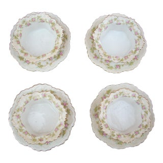 "Bone China ""Delight"" Bowls - Set of 4 For Sale"