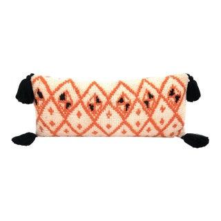 Vintage Berber Rug Wool Pillow For Sale