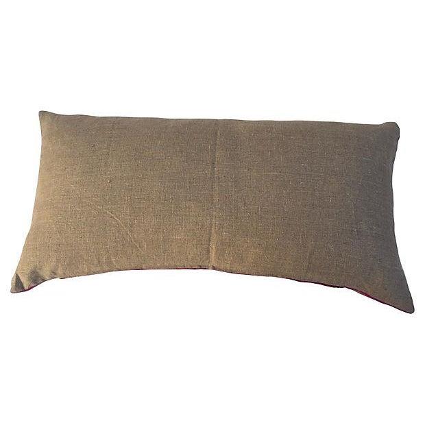 Guatamalin Ikat Colorful Pillow - Image 4 of 5