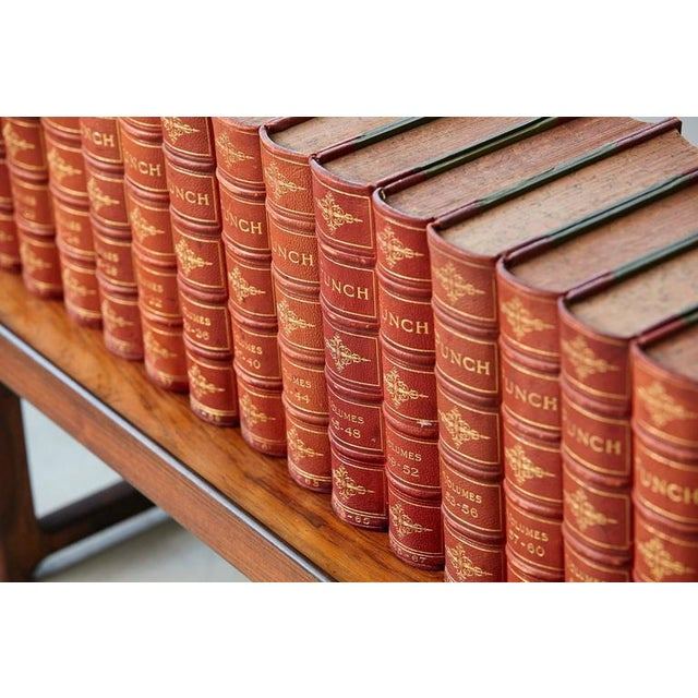 Mid 19th Century Set of 24 Leather Bound Volumes of Punch No 5-100 from the Estate of José Ferrer For Sale - Image 5 of 11