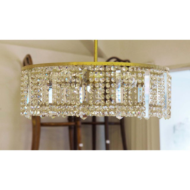 1960s Austrian chandelier made of cut metal by Bakalowits & Söhne For Sale - Image 5 of 11