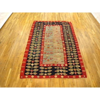1920s Antique Flat-Woven Bessarabian Kilim Rug - 6′ × 9′ Preview