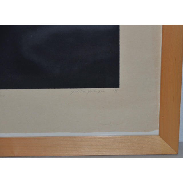 Asian Yutaka Yoshinaga Color Etching W/ Spit Bit Aquatinti C.1996 S/N Edition of 40 For Sale - Image 3 of 8