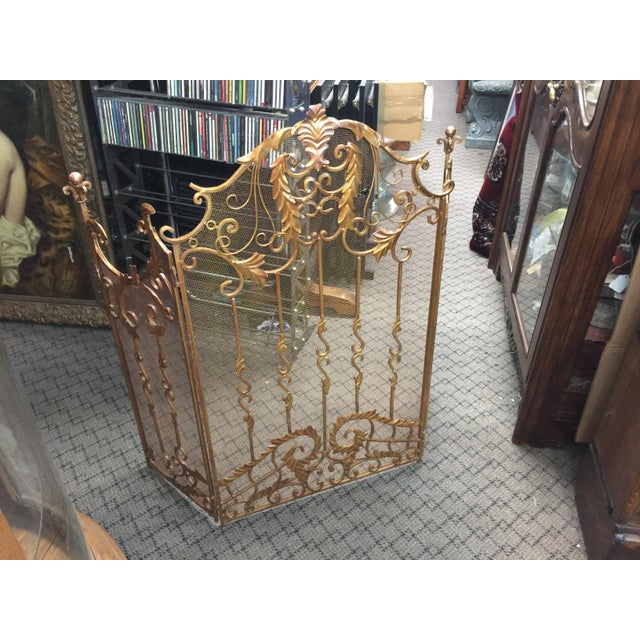 French Ornate Fireplace Screen For Sale - Image 3 of 12