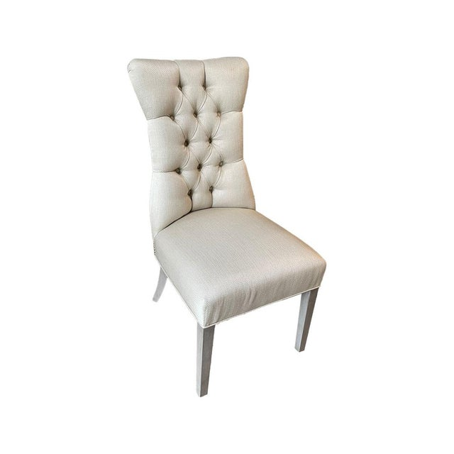 Transitional Fremarc Designs Tufted Side Chair For Sale - Image 3 of 3