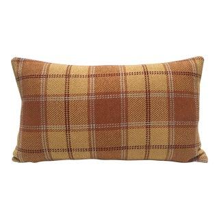 Fall Plaid Lumbar Pillow For Sale