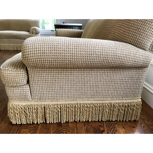 Brunschwig & Fils Oxford Gold Chenille Fabric Sofa & Loveseat - A Pair For Sale - Image 12 of 13