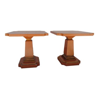 Painted Mid-Century Neoclassical Accent Tables - A Pair